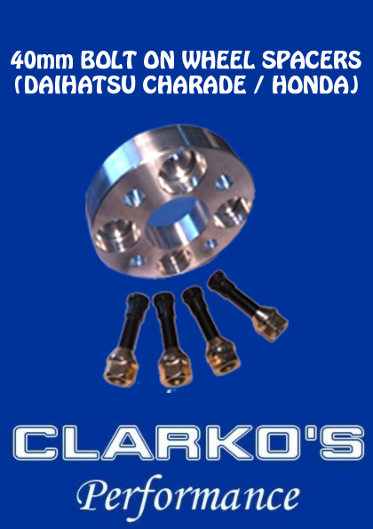(Daihatsu Charade & Honda) Bolt on 40mm Wheel Spacer - WITH stud